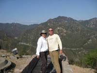 Pose on the Great Wall of China